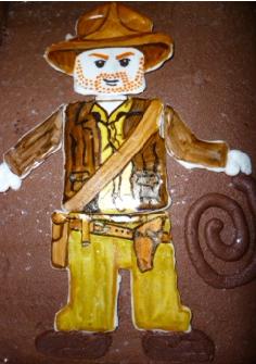 Indiana Jones Lego Icing Logo