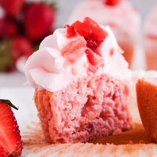 Bite of Strawberry Cupcake