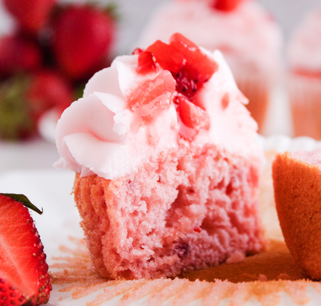 Bite of Strawberry Cupcake