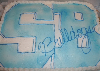 Highschool sheet cake