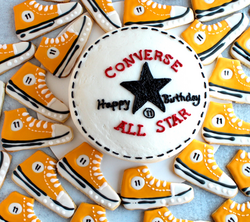 Converse Cake and Painted Cookies