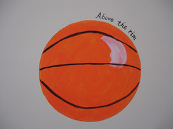 close up/ball&quotes- mural