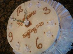 Clock Bridal shower cake