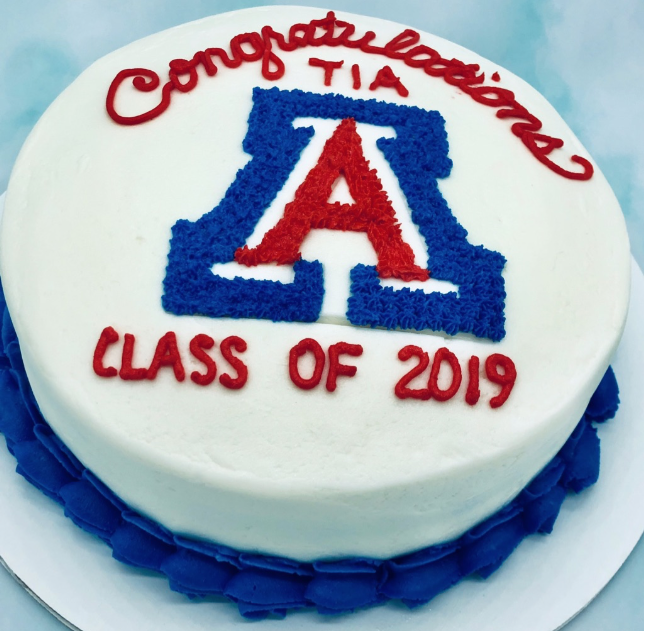 U of A graduation cake