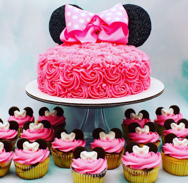 Minnie Mouse Marble cupcakes