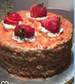 Strawberry Cheesecake Cake