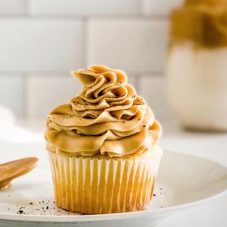 Vanilla Cupcake w/Coffee Frosting