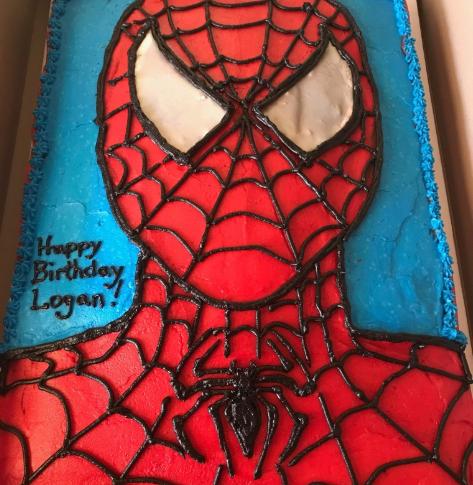 Spiderman Chocolate Cake