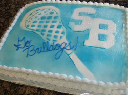Lacrosse party cake