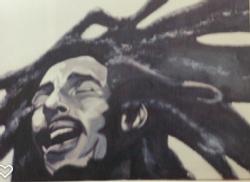 Bob Marley-acrylic