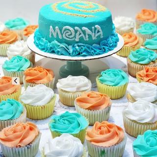 Moana Cake & Cupcake set