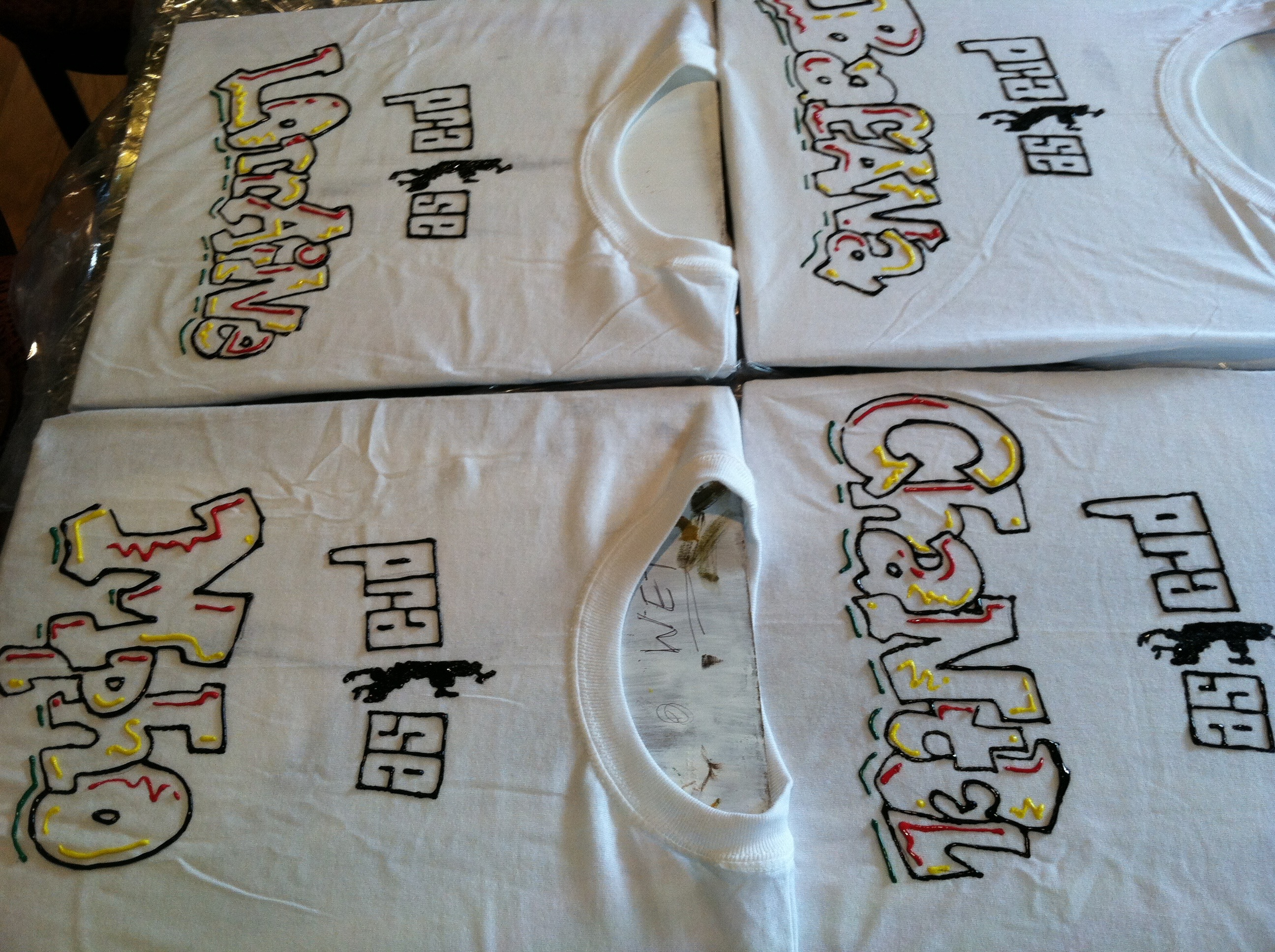 personalized tee shirts-fabric paint