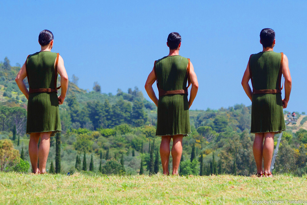 Eleni Kyriacou costumes: Male Dancers at The Olympic Torch Lighting Ceremony for Rio 2016, Ancient Olympia