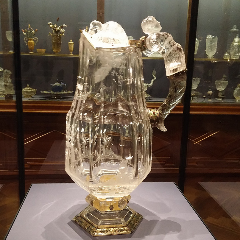 Crystal Jug with Figurative Handle