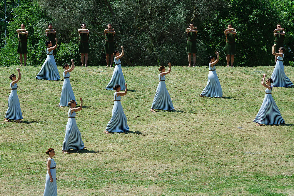 Eleni Kyriacou costumes: The Olympic Torch Lighting Ceremony for Rio 2016, Ancient Olympia