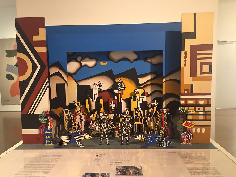 Model of original set and costume design by Fernand Léger