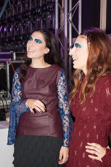 The Amphipolis Muse Backstage - Fashion designer Eleni Kyriacou and Eleftheria Gkoufa of The Benaki Museum