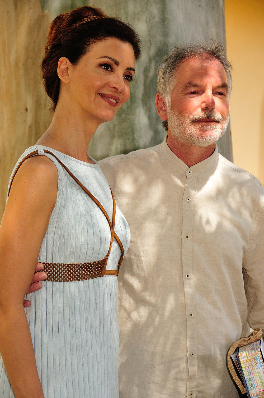 Actress Katerina Lehou and musician Yannis Psimadas