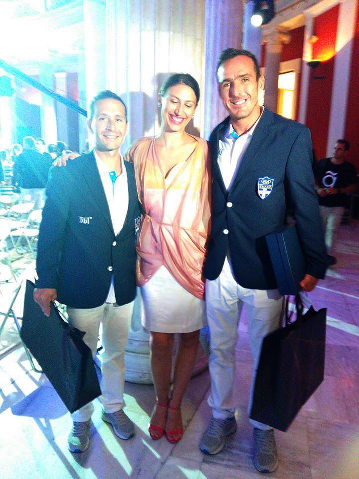 Sailing Olympians Panagiotis Mantis & Pavlos Kagialis and Eleni Kyriacou