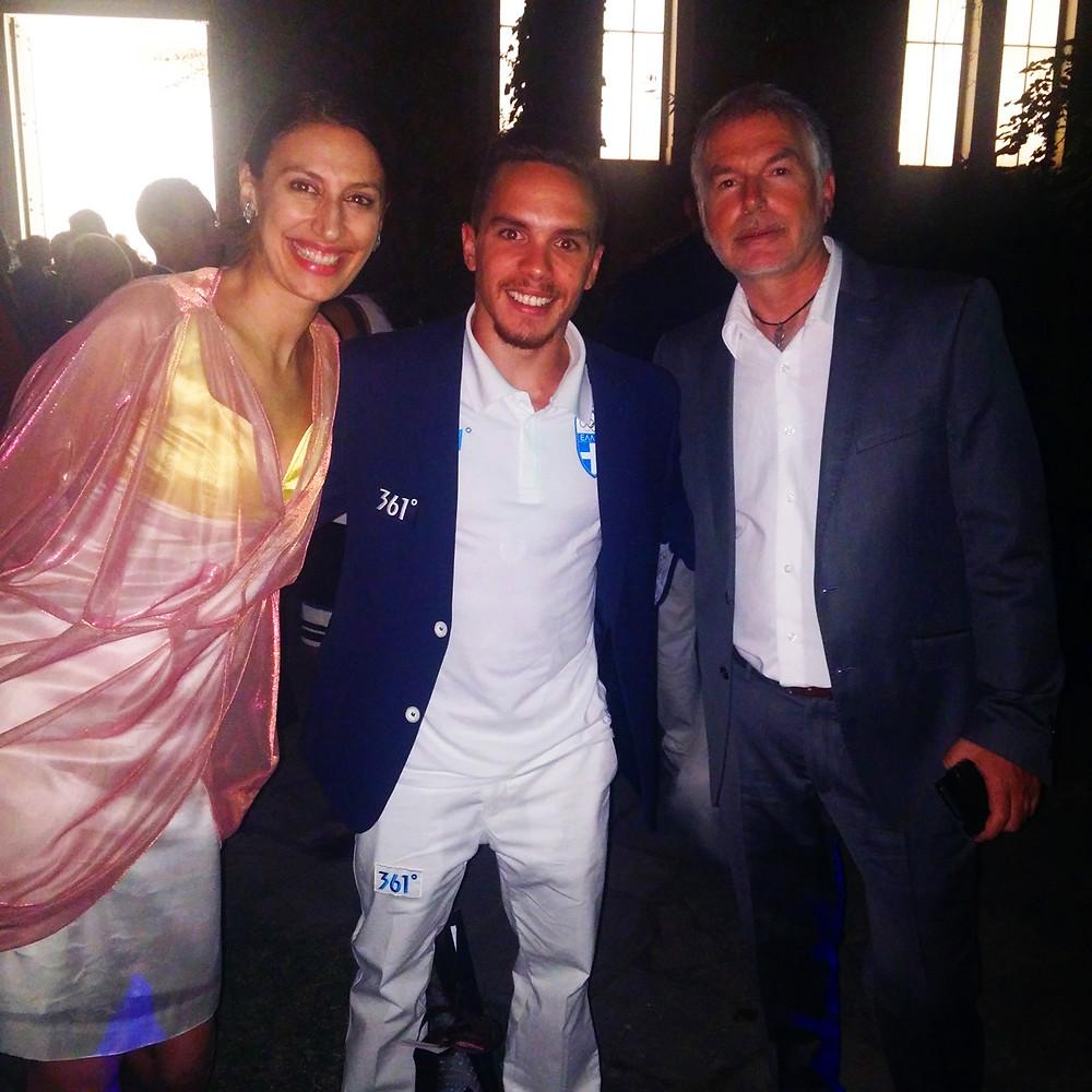 Fashion Designer Eleni Kyriacou, Gold Olympian Eleftherios Petrounias and musician Yannis Psimadas