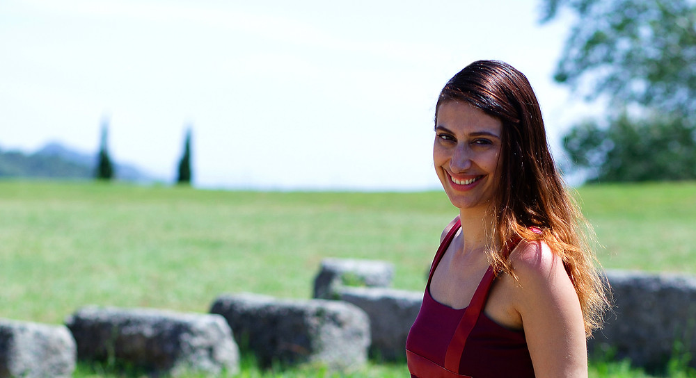 Eleni Kyriacou at The Temple of Hera, Ancient Olympia