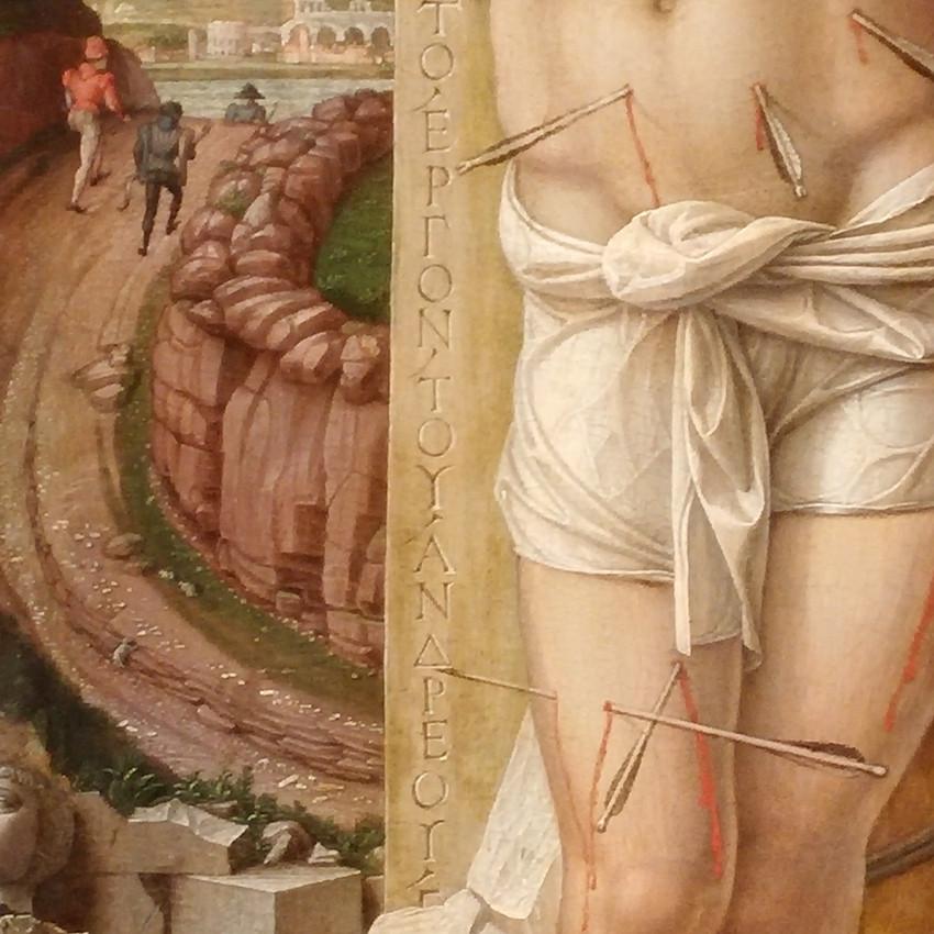 Andrea Mantegna, Saint Sebastian - Detail