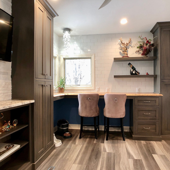 Gray Stained Gathering Nook