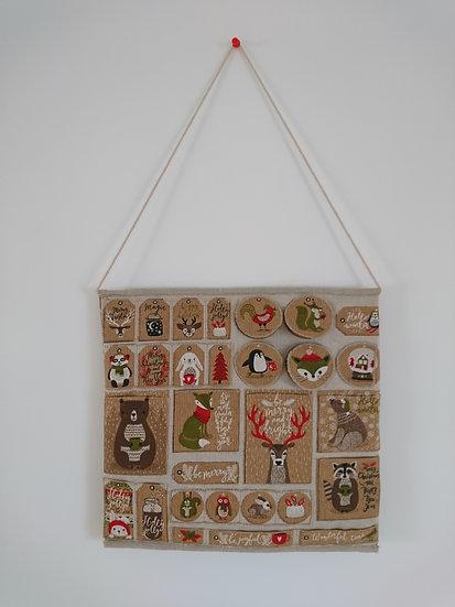 calendrier de l'avant en coton