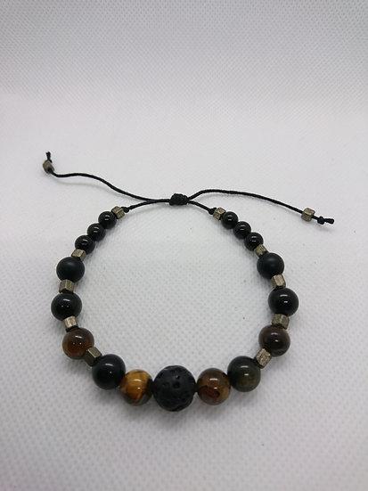 bracelet homme avec perles semi-précieuses