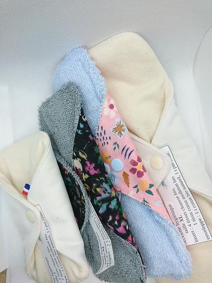 Pack 6 serviettes hygiéniques avec une pochette