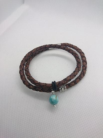bracelet femme avec perle turquoise