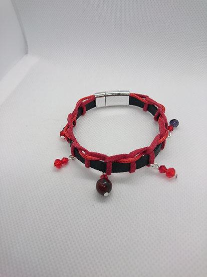 bracelet femme jaspe pavot