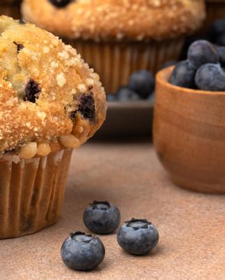 Desserts, blueberry muffins