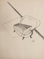 Mao To Laï, Réunion de famille, c.1965-1970, encre de chine sur papier, 40 x 32 cm.