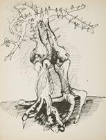 Jacques Grinberg, Grâce naturelle, 1971, encre de chine sur papier, 65 x 50 cm.