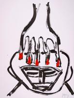 Jacques Grinberg, sans titre, c.2007-2010, encre et gouache sur papier, 76 x 56 cm.