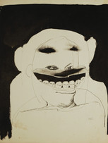 Mao To Laï, sans titre, c.1965-1970, encre de chine sur papier, 40 x 32 cm.