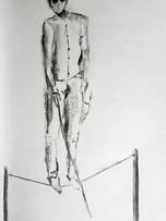 Ilya Grinberg, Les temps modernes, 2019, fusain sur papier, 30 x 21 cm.