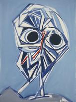 Jacques Grinberg, Victime, c.1990-1995, huile sur toile, 130 x 97 cm.