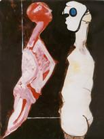 Ilya Grinberg, Dans la chambre, c.1995-2000, gouache sur papier, 65 x 50 cm.