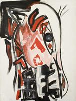 Jacques Grinberg, Cheval céramique, 1983, huile sur toile, 130 x 97 cm