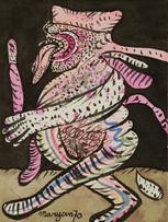 Maryan (Pinchas Burstein), sans titre, 1970, gouache sur papier, 31 x 23 cm.