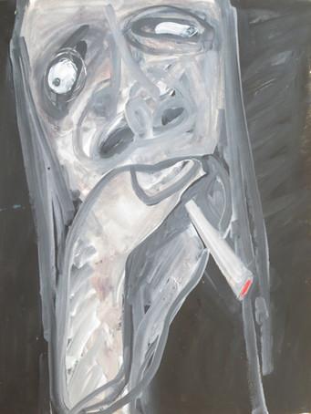 Ilya Grinberg, H, c.2005-2010, gouache sur papier, 65 x 50 cm.