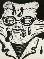 Maryan (Pinchas Burstein), sans titre, 1973, lithographie sur papier, 50 x 70 cm.