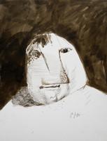 Mao To Laï, Rugbyman, c.1968-1970, encre sur papier, 39 x 31 cm.