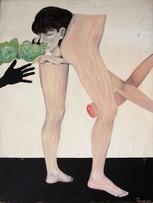 Fernand Teyssier, Etude massacre II, 1965, huile sur isorel, 120 x 90 cm.