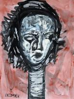 Ilya Grinberg, Insomniaques, 2020, technique mixte sur papier, 80 x 60 cm.
