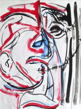 Ilya Grinberg, 554731, c.2005-2010, gouache sur papier, 65 x 50 cm.