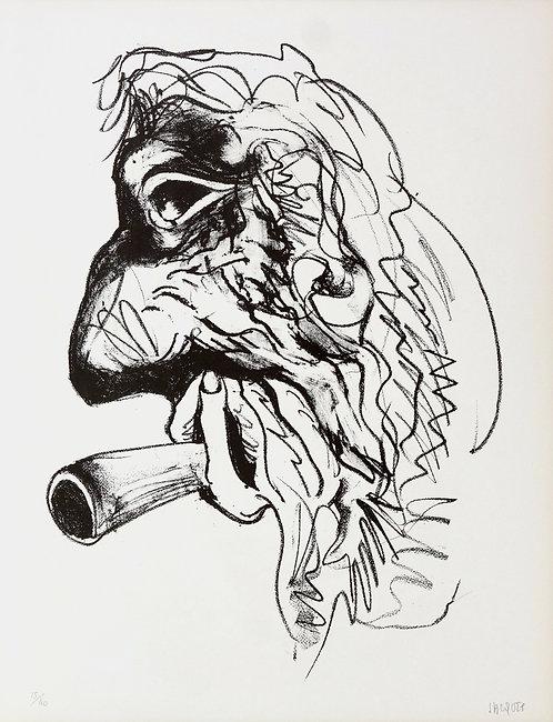 Jacques Grinberg, Une autre possibilité (en fumée), 1971, lithographie.