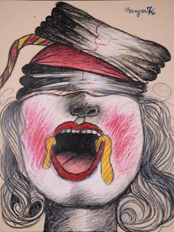 Maryan, sans titre, 1976, crayon de couleur sur papier, 65 x 50 cm